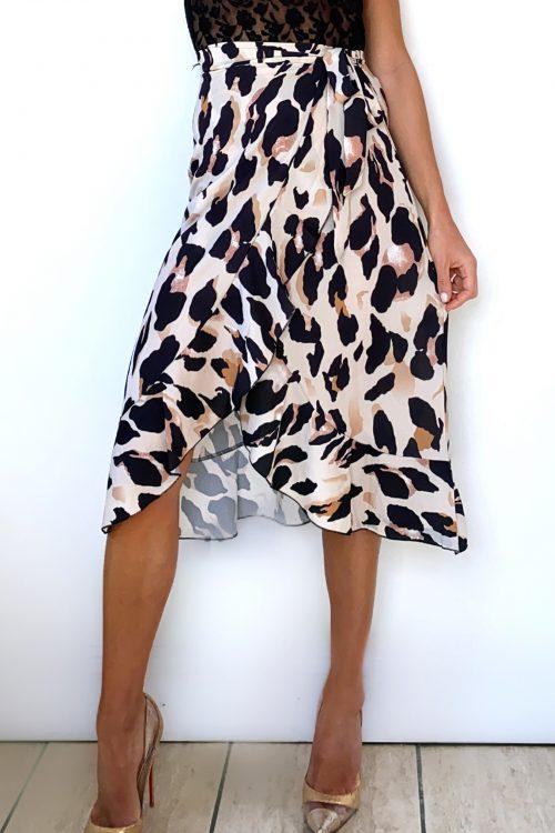 Leopard-Tie-Wrap-Skirt